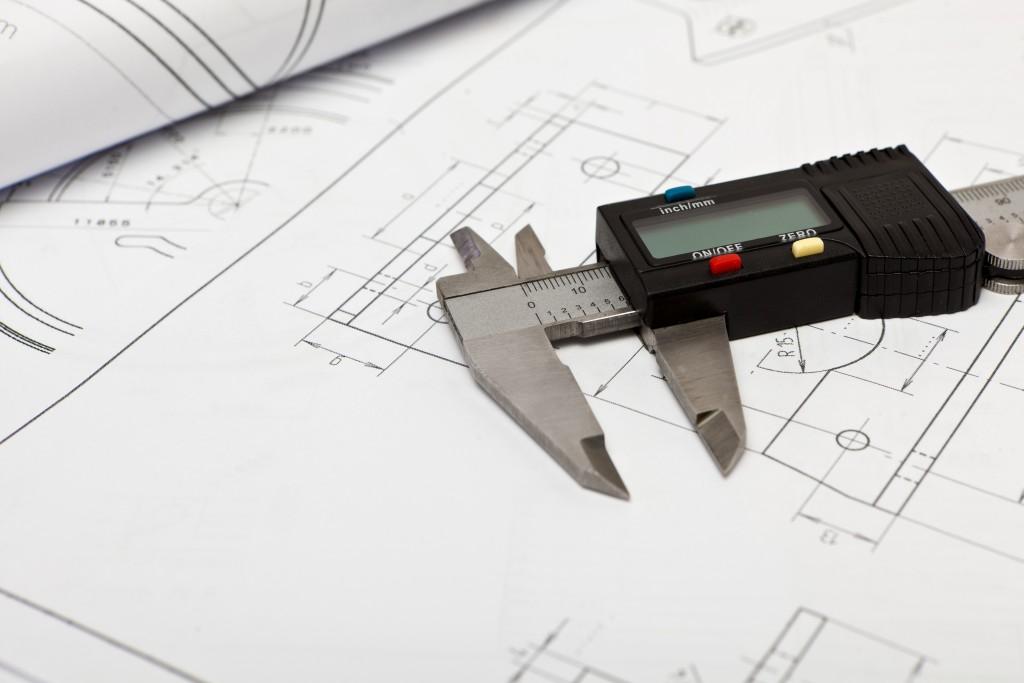 Caliper technical drawing